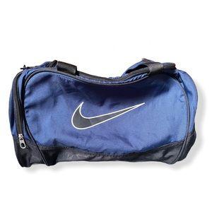 NIKE Medium Structured Duffel Bag Blue Black